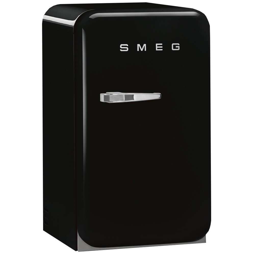 smeg 50s style glossy black retro minibar available while. Black Bedroom Furniture Sets. Home Design Ideas